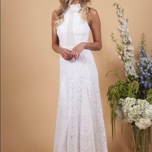Nightcap lace wedding gown